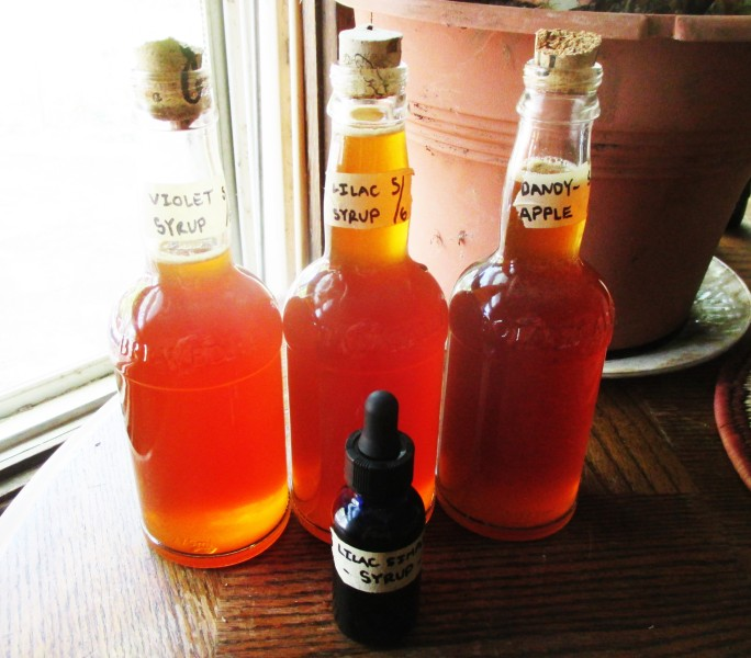 Bottled Floral Simple Syrups | DeerNationHerbs.com
